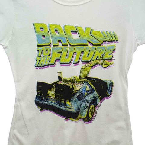 Back To The Future T-Shirt - Ladies Neon