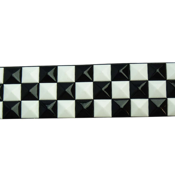 Black and White Studded Belt - BBT Clothing