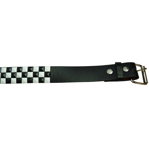 Black and White Studded Belt