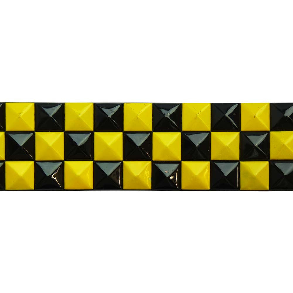 Studded Belt - Yellow and Black - BBT Clothing - 1