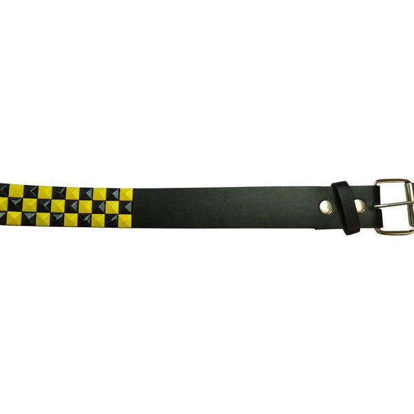 Studded Belt - Yellow and Black - BBT Clothing - 2