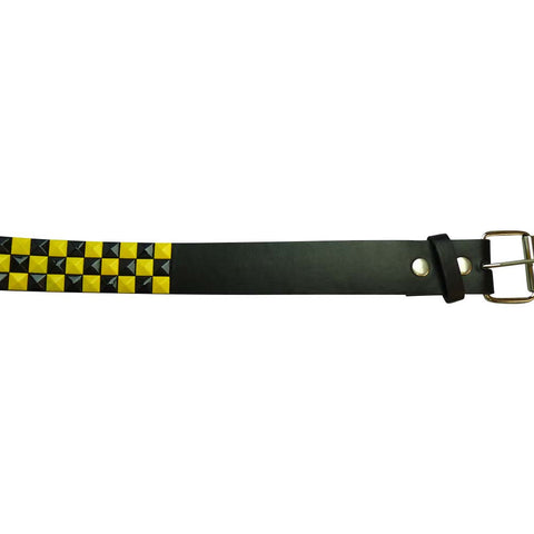 Studded Belt - Yellow and Black