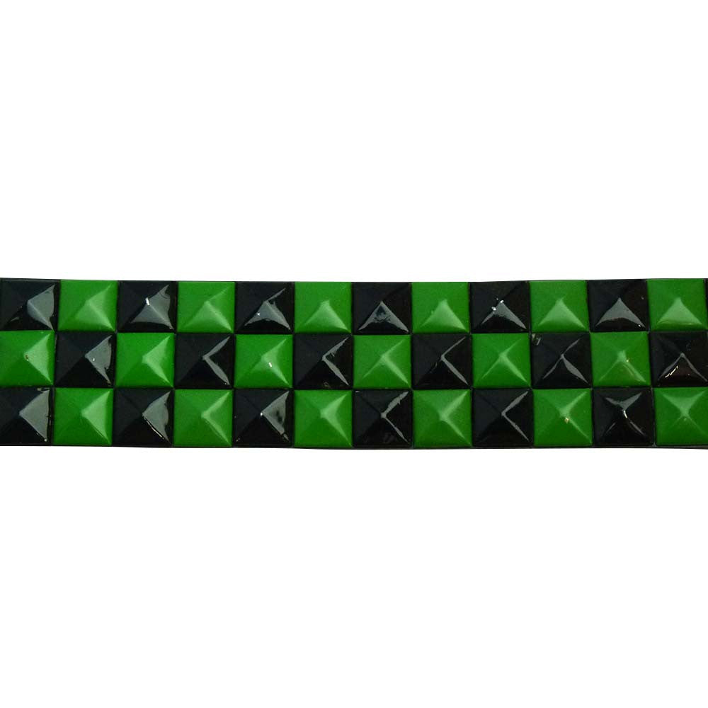 Studded Belt - Green and Black - BBT Clothing - 1