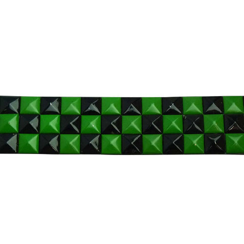Studded Belt - Green and Black