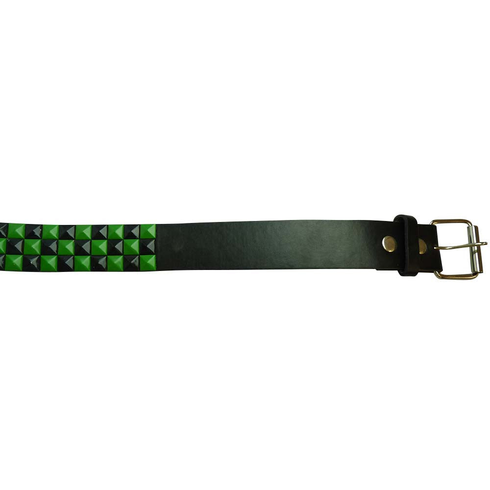 Studded Belt - Green and Black - BBT Clothing - 2