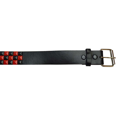 Studded Belt - Red and Black