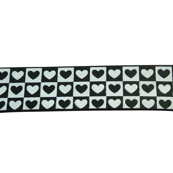 Love Hearts Belt in Black and White - BBT Clothing - 1