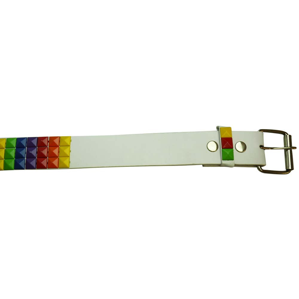 Rainbow Studded Belt - BBT Clothing - 2