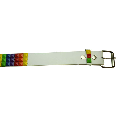 Rainbow Studded Belt