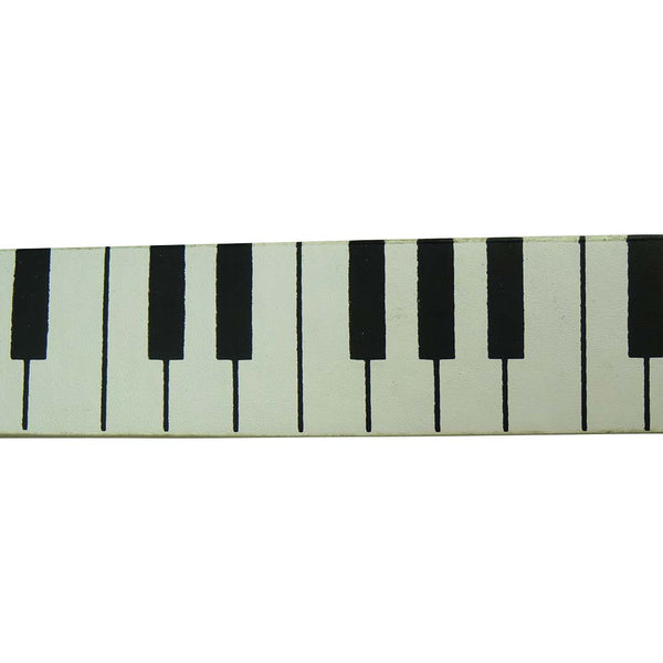 Piano Design Printed Belt in Black and White - BBT Clothing - 1