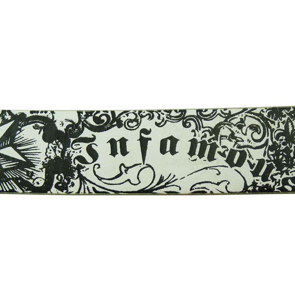 Printed Belt - Infamous - BBT Clothing - 1