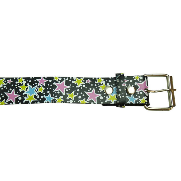 Star Design Printed Belt in Multi Colours - BBT Clothing - 2