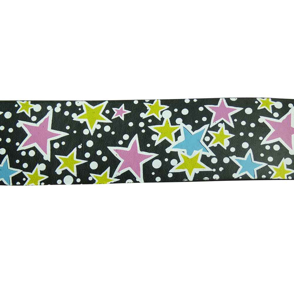 Star Design Printed Belt in Multi Colours - BBT Clothing - 1