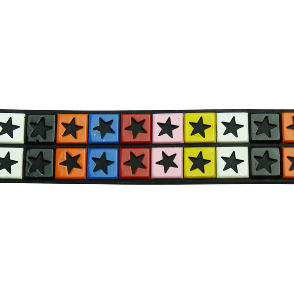 Studded Star Belt with Multi Coloured Stars - BBT Clothing - 1