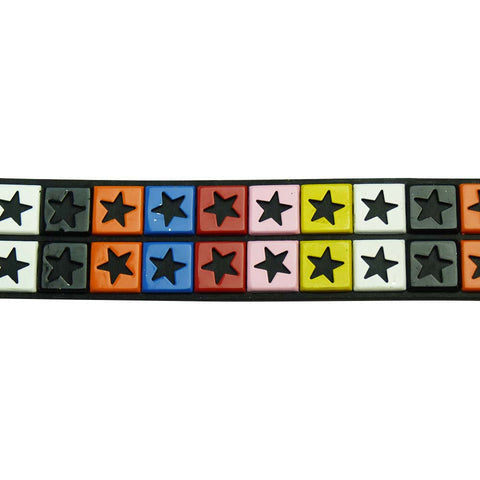 Studded Star Belt with Multi Coloured Stars