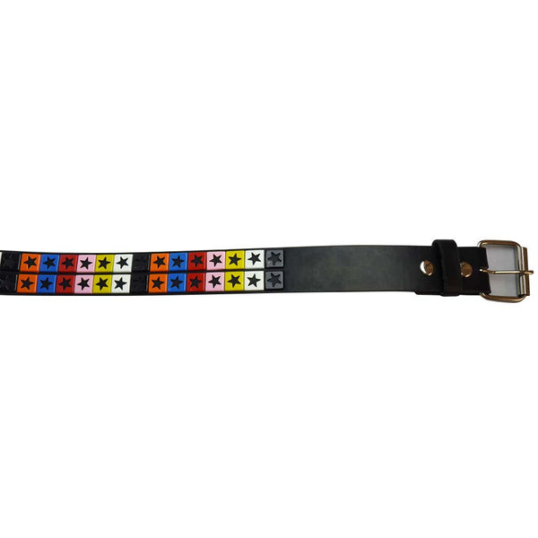 Studded Star Belt with Multi Coloured Stars - BBT Clothing - 2