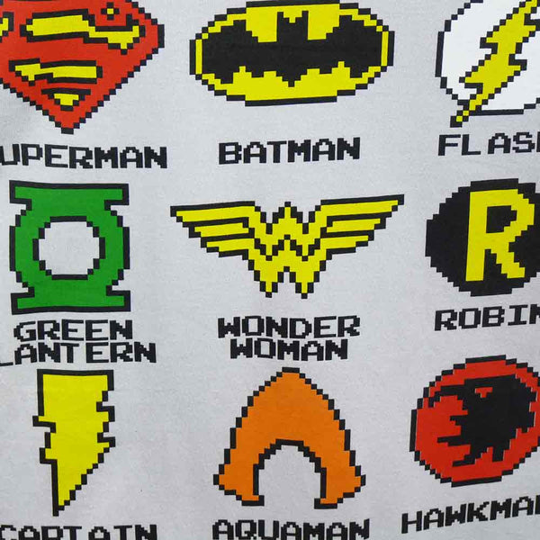 DC Comics T-Shirt - Pixelated Logos - BBT Clothing - 3