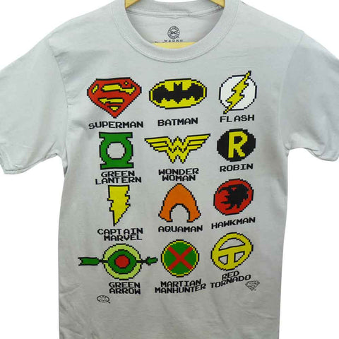 DC Comics T-Shirt - Pixelated Logos