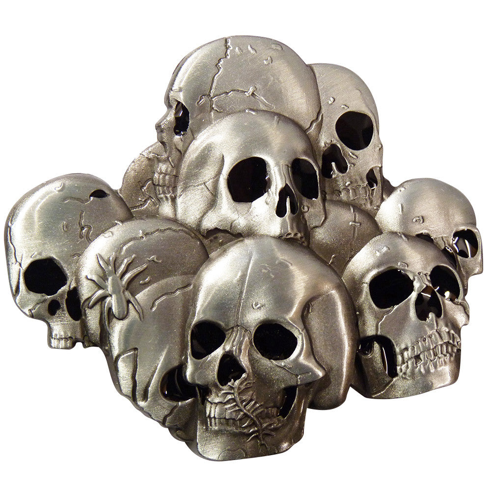 Stacked Skulls Belt Buckle - BBT Clothing - 4