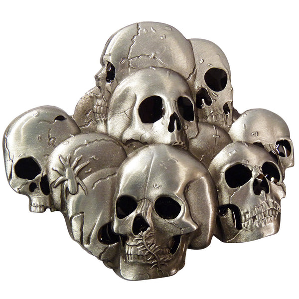 Stacked Skulls Belt Buckle - BBT Clothing - 1