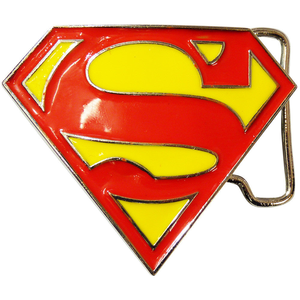 Superman Belt Buckle - Logo Glitter - BBT Clothing - 1