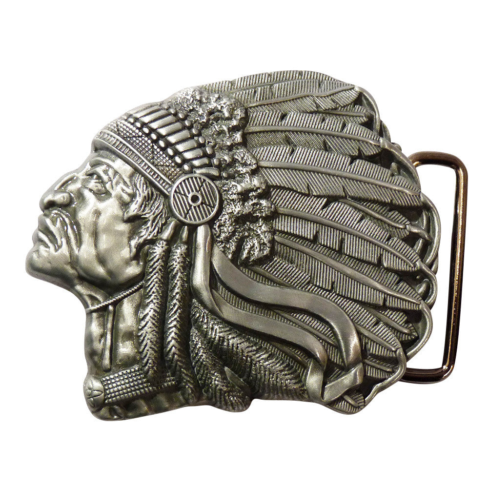 Native American Belt Buckle - side Angle - BBT Clothing - 2