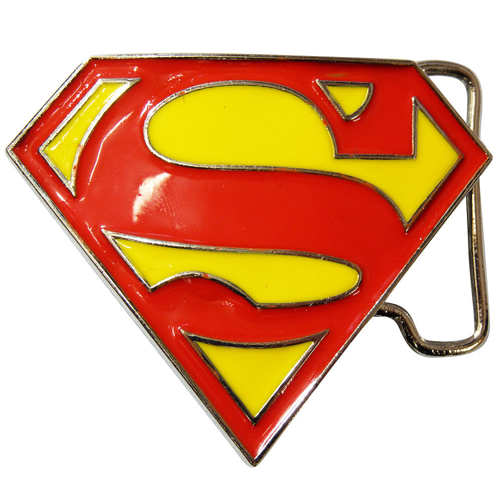 Superman Belt Buckle - Logo Glitter - BBT Clothing - 2