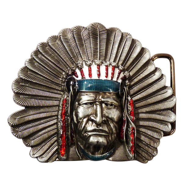 Native American Belt Buckle - BBT Clothing - 1
