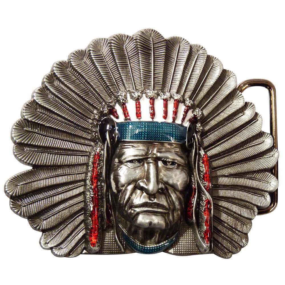 Native American Belt Buckle - BBT Clothing - 2