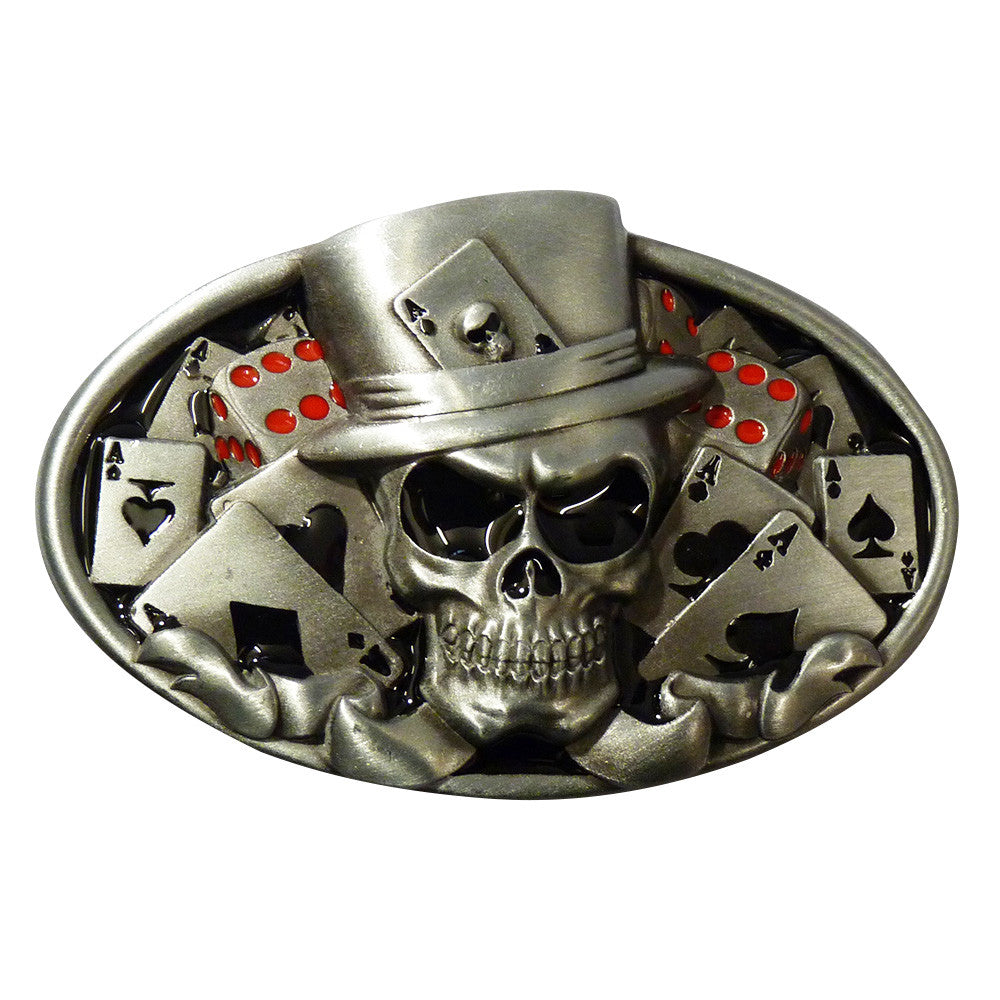 Lucky Skull Belt Buckle - BBT Clothing - 1