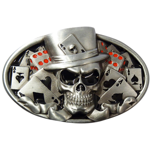 Lucky Skull Belt Buckle - BBT Clothing - 2