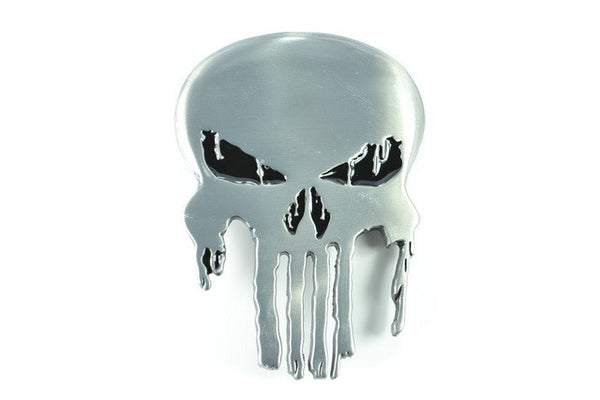 Punisher Skull Belt Buckle - Chrome - BBT Clothing