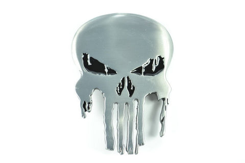 Punisher Skull Belt Buckle - Chrome