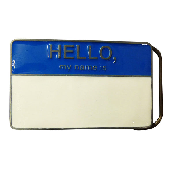 Hello My Name Is Belt Buckle - BBT Clothing - 1