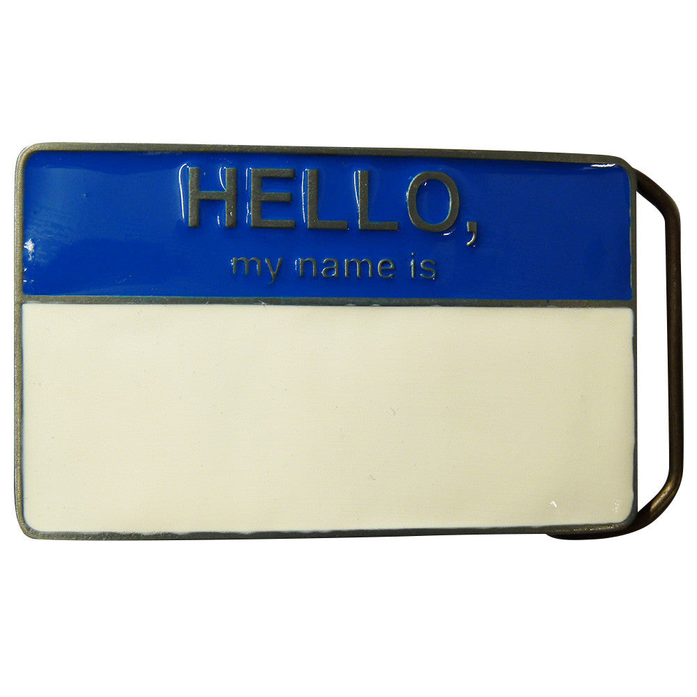 Hello My Name Is Belt Buckle - BBT Clothing - 2