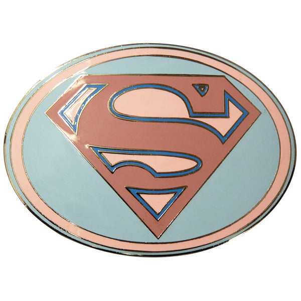 Superman Belt Buckle - Pink Oval - BBT Clothing - 3