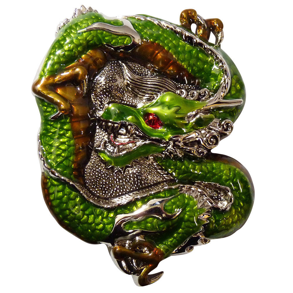 Dragon Belt Buckle Green - BBT Clothing - 1