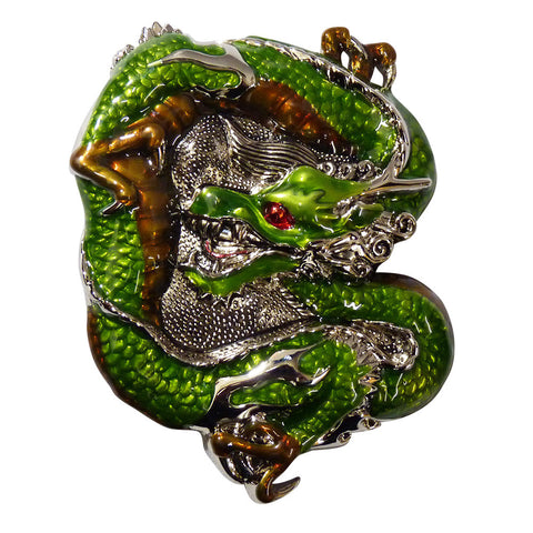 Dragon Belt Buckle Green