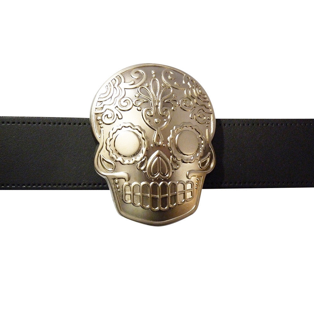 Skull Belt Buckle - Tattoo - BBT Clothing - 3