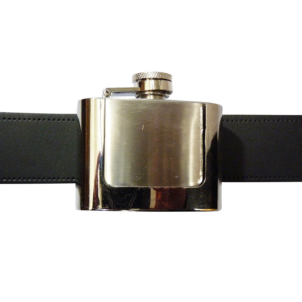 Hip Flask Belt Buckle - Stainless Steel - BBT Clothing - 4