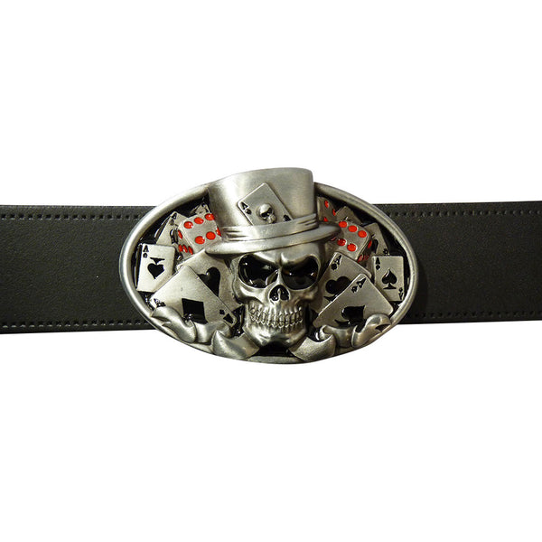 Lucky Skull Belt Buckle - BBT Clothing - 3