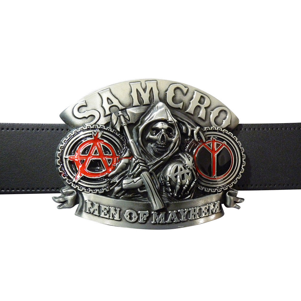 Sons Of Anarchy Belt Buckle - Biker Club - BBT Clothing - 4