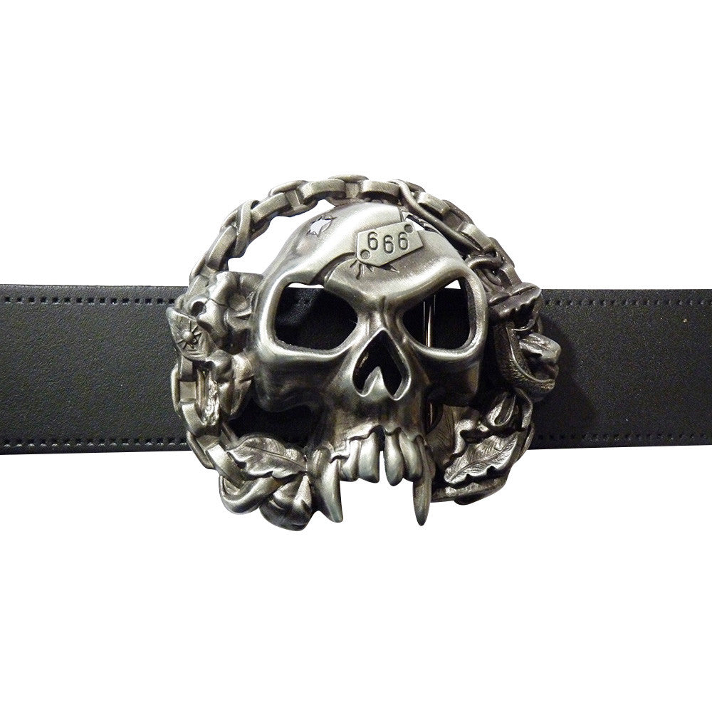 666 Skull Belt Buckle - BBT Clothing