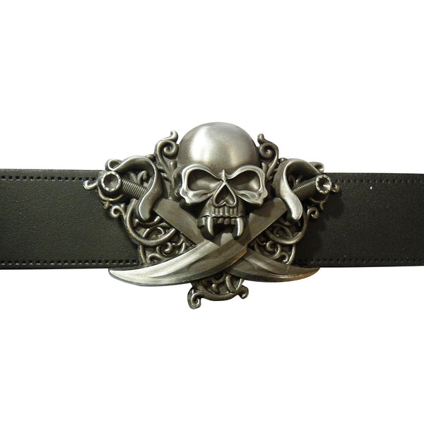 Skull with Swords Buckle - BBT Clothing - 3