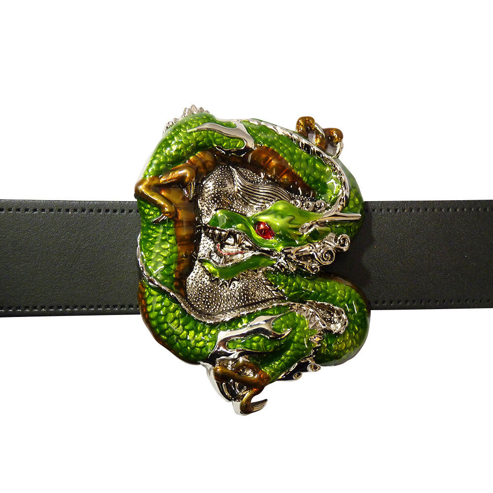 Dragon Belt Buckle Green - BBT Clothing - 3