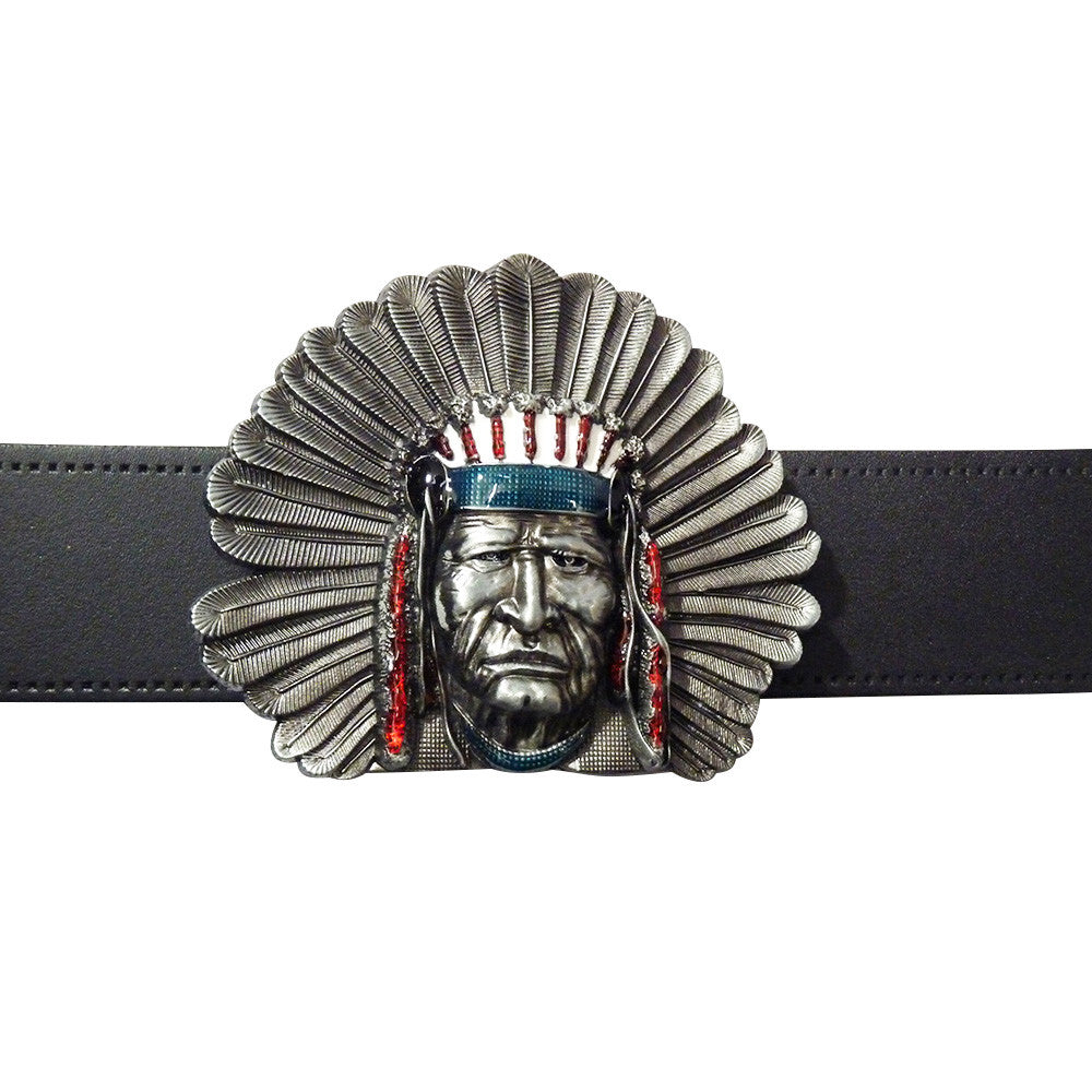 Native American Belt Buckle - BBT Clothing - 3