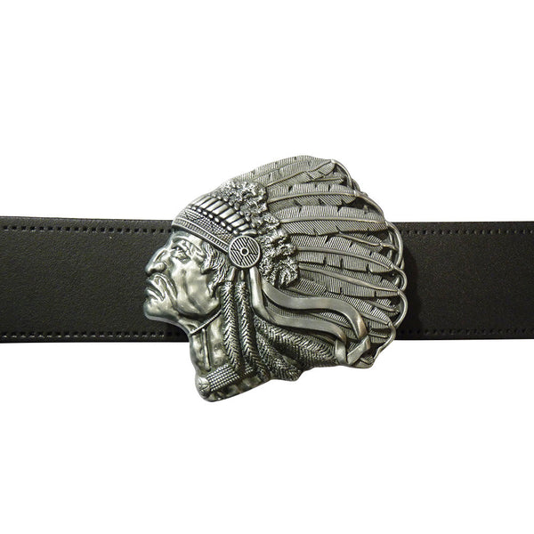 Native American Belt Buckle - side Angle - BBT Clothing - 3