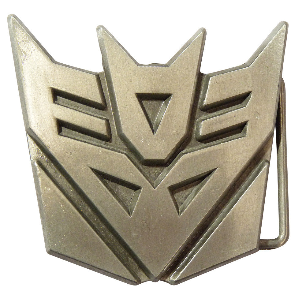 Transformers Belt Buckle - Decepticon Metal Finish - BBT Clothing - 1