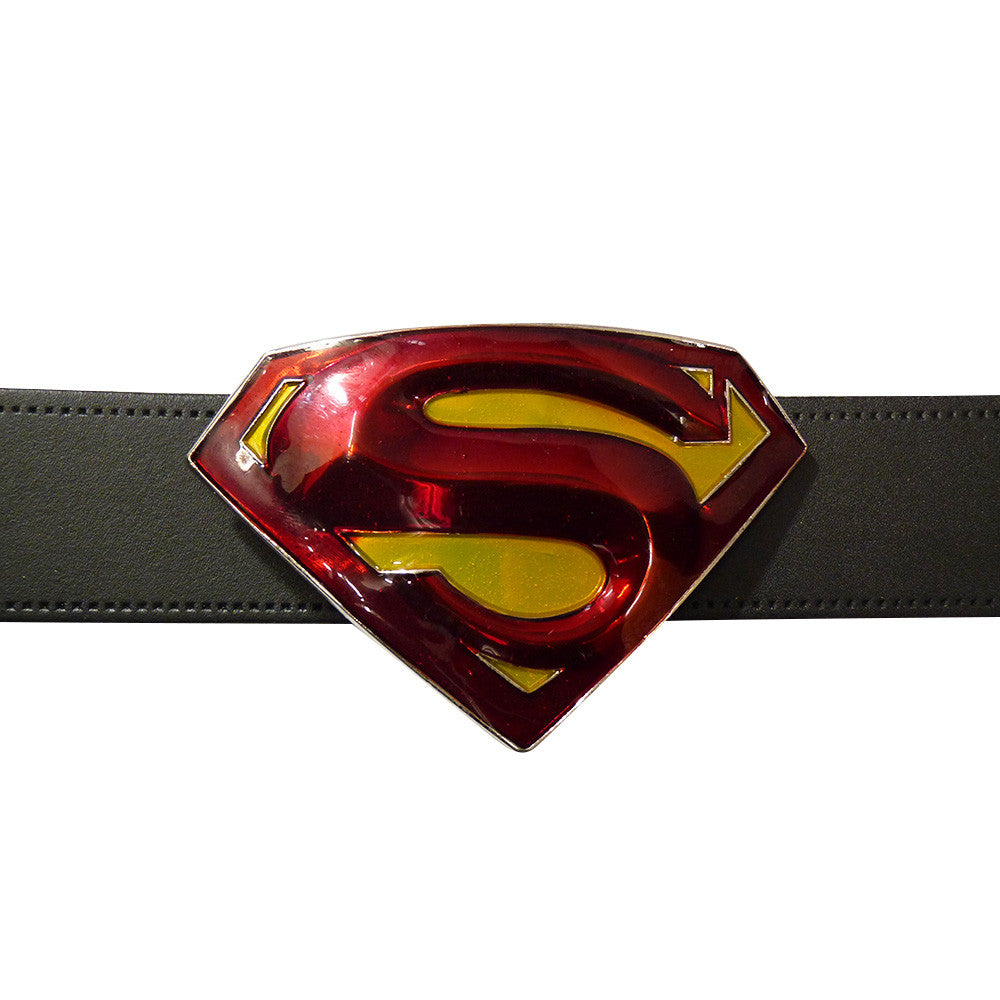 Superman Belt Buckle - 3D Red & Yellow - BBT Clothing - 3