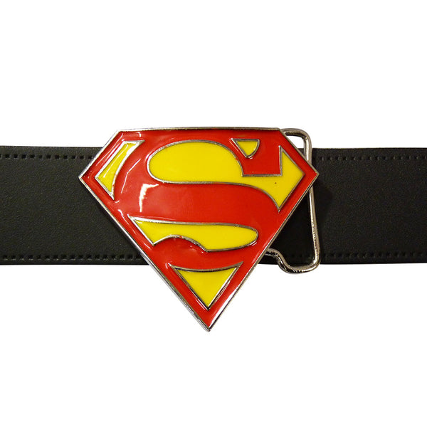 Superman Belt Buckle - Logo Glitter - BBT Clothing - 3